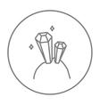 Gemstones line icon vector image vector image