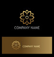 gold flower beauty logo vector image vector image