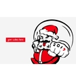 Hipster cool Santa Clausgreeting card 2017place vector image vector image