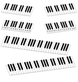 isometric piano keyboard set vector image vector image