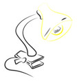 lamp drawing on white background vector image vector image