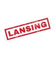 Lansing Rubber Stamp vector image vector image