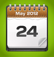 Leather calendar vector | Price: 1 Credit (USD $1)