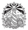 lighthouse with typographic elements vector image vector image