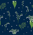 lily valley seamless pattern vector image