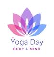 lotus flower as symbol yoga vector image