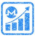 monero growing chart framed stamp vector image vector image