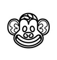 monkey head logo template vector image