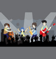 musicians jazz band on stage vector image