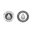 no artificial colors and dyes icon skin and body vector image vector image