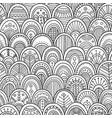 ornamental scallops seamless pattern vector image vector image