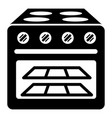 oven with glass icon simple style vector image