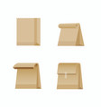 paper bag shopping bag collection icon vector image vector image
