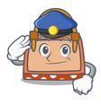 police hand bag character cartoon vector image vector image