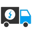 Power Supply Van Flat Icon vector image