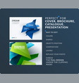 presentation abstract set of modern vector image