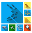 prison and the criminalflat icons in set vector image vector image