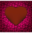 Red Valentines day background with hearts EPS 8 vector image