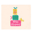 retro card with christmas gifts vector image vector image