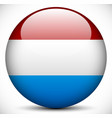 round icon with the flag of netherlands vector image