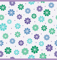 seamless pattern with flowers in cool colors vector image vector image