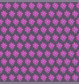 seamless pattern with flowers on gray background vector image vector image