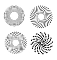 Set of spirals Design element vector image vector image