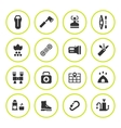 Set round icons of camping vector image vector image