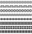 set seamless vintage borders in different vector image vector image