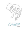 silhouette crab meat linear silhouette crab meat vector image vector image