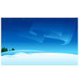 Snow landscape Aurora Borealis vector image