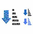 sort down mosaic icon circle dots