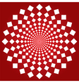 Spiral squares vector image vector image