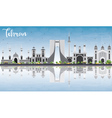 Tehran Skyline with Gray Landmarks Blue Sky vector image vector image