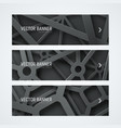 templates banners with interwoven cobwebs from vector image vector image