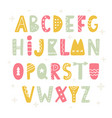 trendy scandinavian folk alphabet vector image