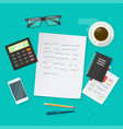 writing text content on education working vector image