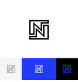 n in square minimalism logo letter n vector image