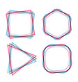 abstract geometric line frames set vector image vector image