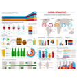 alcohol consumption infographics template vector image vector image
