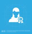 award user icon vector image