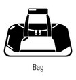 bag sport icon simple black style vector image vector image