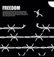 barbed wire with the knots flies to freedom vector image
