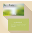 blurred green background simple business card vector image vector image