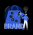 brand awareness abstract concept vector image vector image