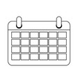 calendar planner symbol isolated in black and vector image vector image