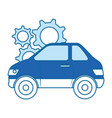 car vehicle with gears vector image
