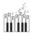 Choir of piano keys vector image vector image