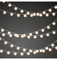 christmas lights set of golden xmas vector image vector image