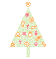 Christmas tree with gifts made of icons vector image vector image